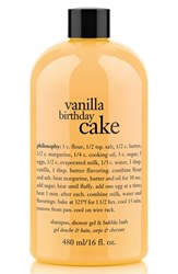 Philosophy 'Vanilla Birthday Cake' Shampoo Shower Gel And Bubble Bath