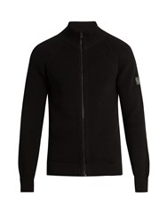 Belstaff Parkgate Zip Through Cotton Sweater Black