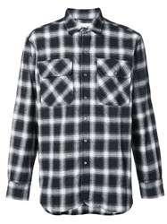 Ovadia And Sons Plaid Shirt Cotton M Black