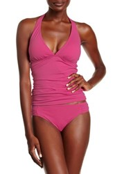 Tommy Bahama Pearls Side Shirred Hipster Full Coverage Bottom Pink