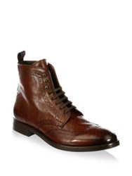 To Boot Bruckner Tall Leather Wingtip Boots Brown