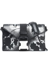 Christopher Kane Printed Leather Shoulder Bag Black