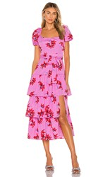 Likely Lottie Dress In Pink. Red And Pink Multi