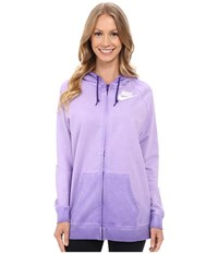 Nike Boyfriend Full Zip Wash Hoodie Court Purple White Women's Sweatshirt