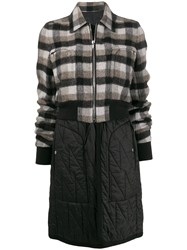Rick Owens Deconstructed Check Pattern Coat 60