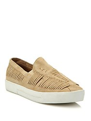 Joie Huxley Huarache Suede Skate Sneakers Buff