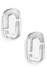 Marc By Marc Jacobs Women's Icon Cutout Stud Earrings Silver