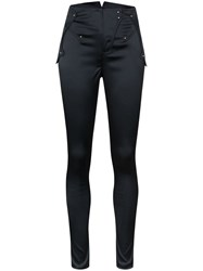 Esteban Cortazar High Waist Skinny Trousers Blue