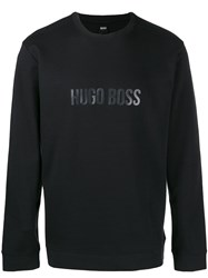 Hugo Boss Printed Logo Sweatshirt Black
