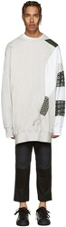 J.W.Anderson J.W. Anderson Ssense Exclusive Grey Kelly Beeman Edition Oversized Graphic Pullover