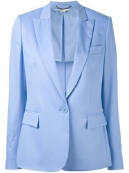 Stella Mccartney Single Breasted Blazer Women Cotton Viscose Wool 42 Blue