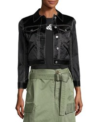 Marc Jacobs Classic Sateen Jean Jacket Black