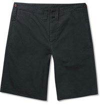 Margaret Howell Mhl Scout Cotton And Linen Blend Shorts Black