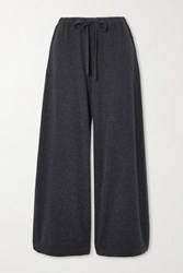 Vince Cropped Wool And Cashmere Blend Wide Leg Pants Gray