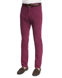 Neiman Marcus Ray Washed Regular Fit Pants Raspberry