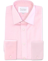 Double Two Men's Paradigm Cuff Pure Cotton Non Iron Shirt Pink