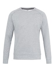 Casall M Tech Crew Neck Jersey Sweatshirt Grey