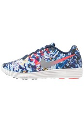 Nike Performance Lunartempo 2 Rf E Cushioned Running Shoes Bright Crimson Mid Navy Reflect Silver Multicoloured