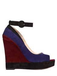 Paul Andrew 120Mm Whitney Suede Open Toe Wedges