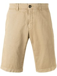 Moncler Chino Shorts Nude And Neutrals
