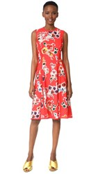 Jason Wu Print Sleeveless Day Dress Red Multi