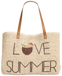 Style And Co Co. Love Summer Straw Beach Bag Only At Macy's