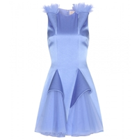 Christopher Kane Tulle And Satin Dress Lilac