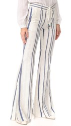 Roberto Cavalli Patterned Pants Avorio Blue Oro