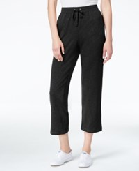 Karen Scott Petite Drawstring Capri Pants Only At Macy's Deep Black