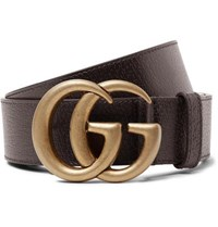 Gucci 4Cm Dark Brown Full Grain Leather Belt Dark Brown