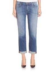Eileen Fisher Stretch Organic Cotton Boyfriend Jeans Aged Indigo