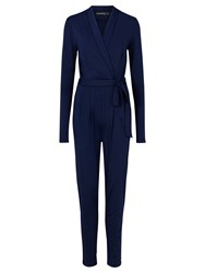 Sugarhill Boutique Josie Wrap Jumpsuit Navy