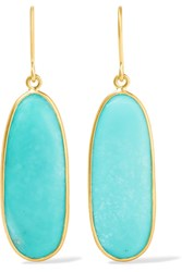 Pippa Small 18 Karat Gold Turquoise Earrings One Size
