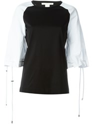 Antonio Berardi Tied Raglan Sleeve Top Black