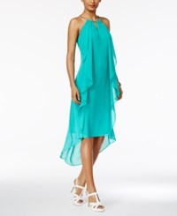 Thalia Sodi Chain Neck High Low Halter Dress Only At Macy's Dynasty Green