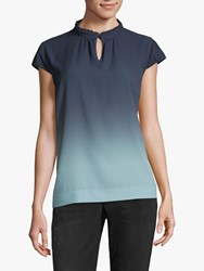 Betty And Co. Crepe Blouse Blue Emerald