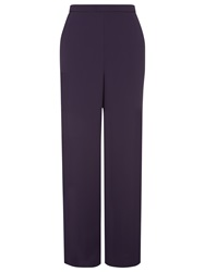 Jacques Vert Piping Detail Trousers Dark Purple