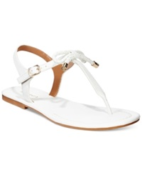 Nautica Women's Bahia T Strap Bow Sandals Women's Shoes White
