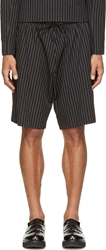 J.W.Anderson Black Jersey Striped Relax Shorts