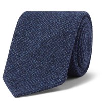 Drakes 8Cm Puppytooth Woven Tie Blue