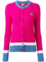 Kenzo Mini Tiger Cardigan Pink Purple
