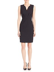 Elie Tahari Pleated Sheath Dress Black