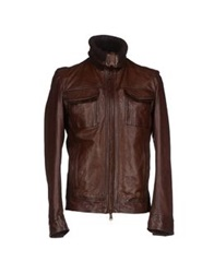 Frankie Morello Jackets Dark Brown