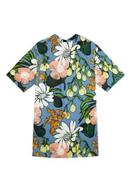 Marni Cotton And Linen Floral Dress Neutral