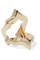 Jennifer Fisher Crystal Gold Plated Ring 3