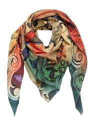 Dmd Helmets Circus Printed Cotton And Silk Blend Scarf