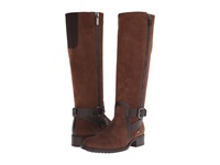 Aquatalia By Marvin K Uriale Chocolate Suede Calf Women's Boots Brown