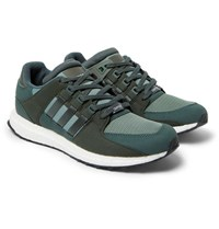 Adidas Originals Eqt Support Ultra Rubber Suede And Mesh Sneakers Green