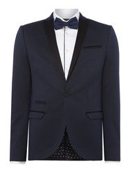 Label Lab Men's Angus Textured Skinny Suit Jacket Navy