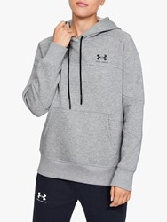 Under Armour Rival Fleece Colour Block Training Hoodie Steel